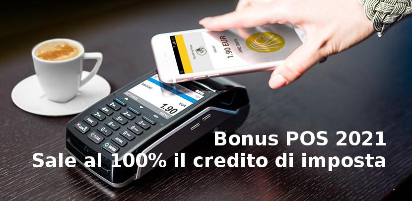 Bonus POS 2021 credito imposta